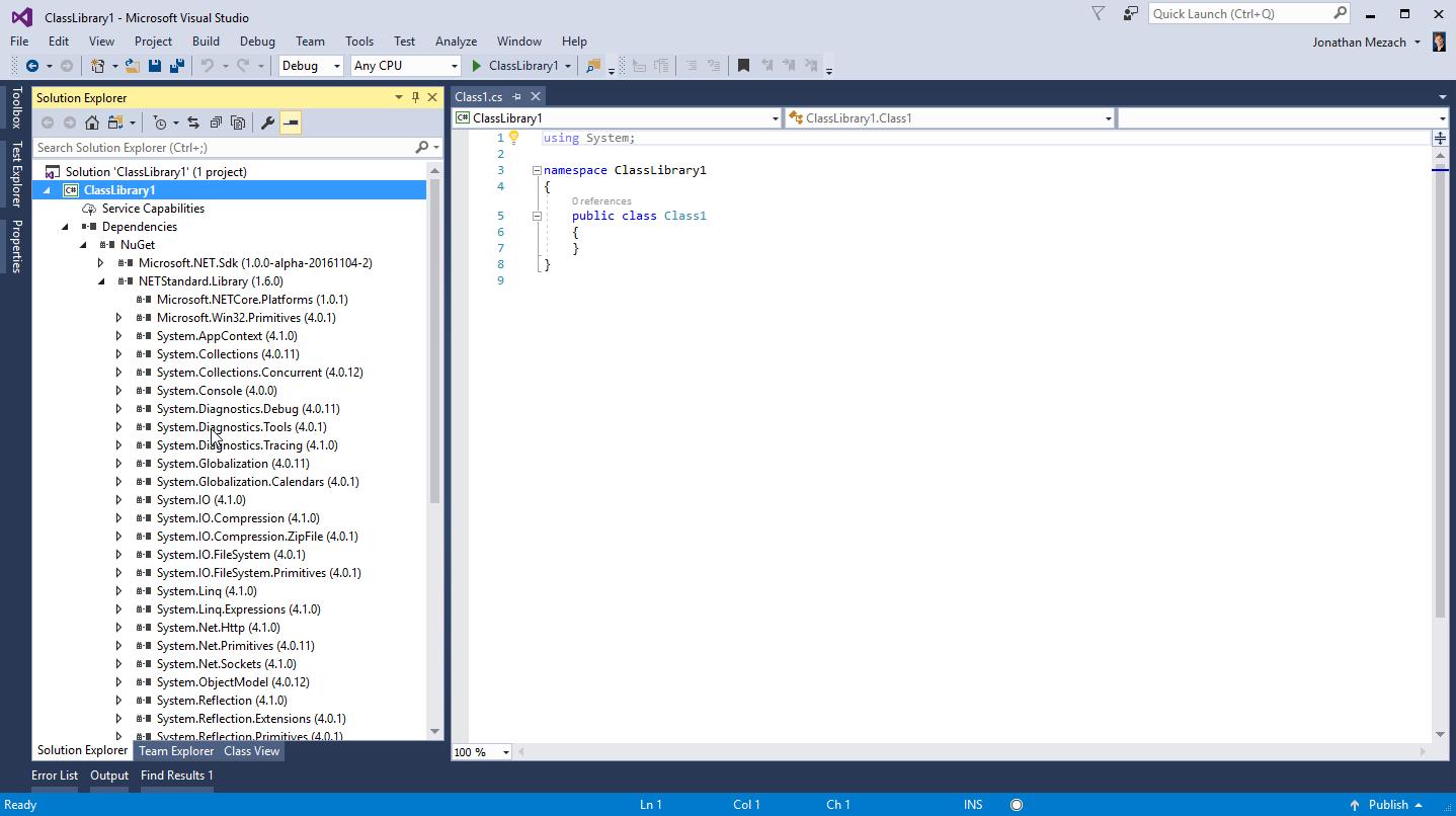 Sharing code across .NET platforms with .NET Standard
