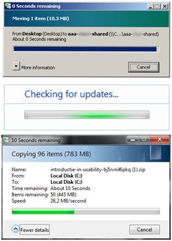 Welk van deze schermen heeft de beste usability?