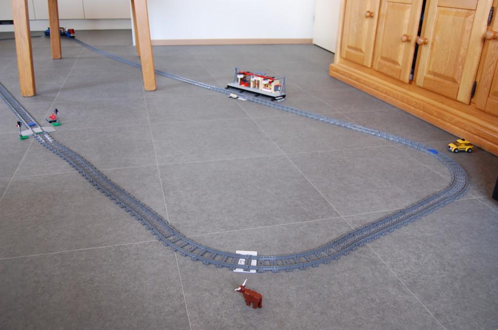 RFID tags on the track