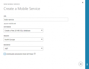 Azure Mobile Services - Figuur 1