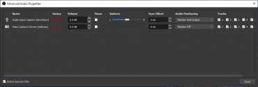 screenshot audio monitor