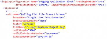 Agent logging configuration