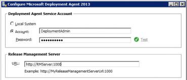 Deployment Agent configuration