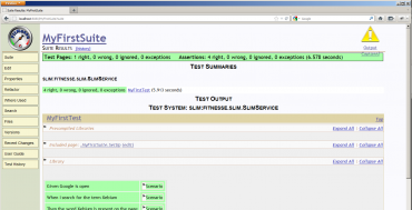 The first successful test run using Xebium